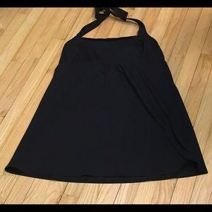 Lands' End black swim dress TOP ONLY
